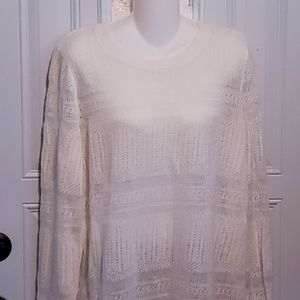 NWT Banana Republic XL sweater ivory
